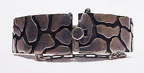 Miguel Melendez sterling pavers / tiles hinged bangle