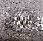 "Fostoria 3"" square ashtray"