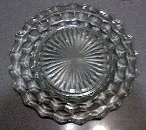 "Fostoria American 9 1/2"" dinner plate- clear"
