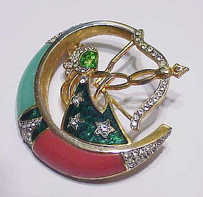 DeNicola Sagitarius Star sign brooch (Nov 23-Dec 22)
