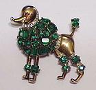 Trifari Alfred Philippe Poodle brooch - emerald green