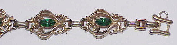 Barclay bracelet with green stones