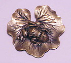 Joseph of Hollywood Frog on lily pad brooch