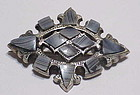 Scottish sterling dove gray Montrose agate brooch