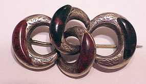 Scottish sterling jasper & bloodstone  lover's knot