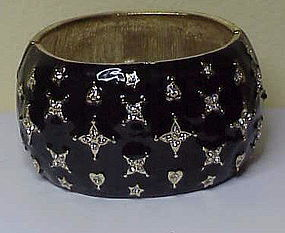 "Kenneth Jay Lane ""Starlight"" cuff bracelet- black"