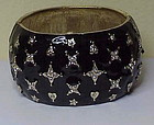 "Kenneth Jay Lane ""Starlight"" cuff bracelet- black"