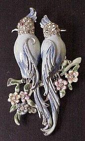 Coro Gene Verrecchio calopsittas duette brooch