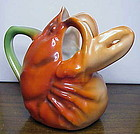 "Royal Bayreuth ""Lobster""  creamer 4"" green mark"