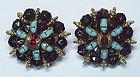 Hattie Carnegie Jewels of Fantasy clip button earrings