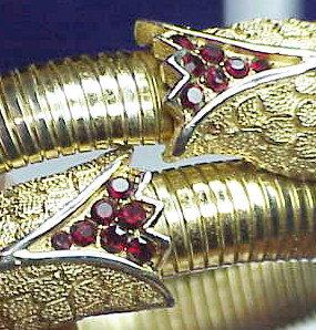 Trifari Rhinestone Encrusted Snake Wrap Bracelet