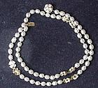 Miriam Haskell baroque creamy white pearl necklace 23.5