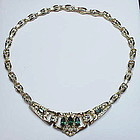 Corocraft rhinestone necklace and earrings