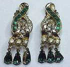 Coro A. Katz clef shaped drop earrings