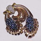 Pennino sterling vermeil 'Pine cone' brooch