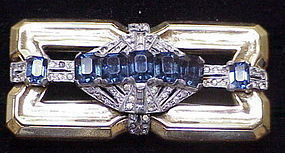McClelland Barclay rhinestone brooch- blue