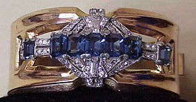 McClelland Barclay bracelet- blue- 1941