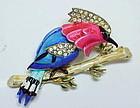 Corocfraft woodpecker trembler brooch
