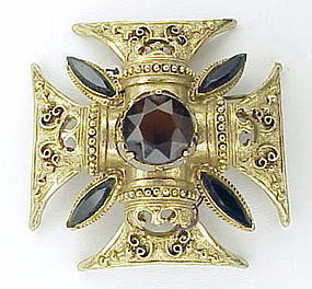 Florenza Maltese cross brooch / pendant