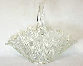 Ribbed feather /fern pattern EAPG BASKET