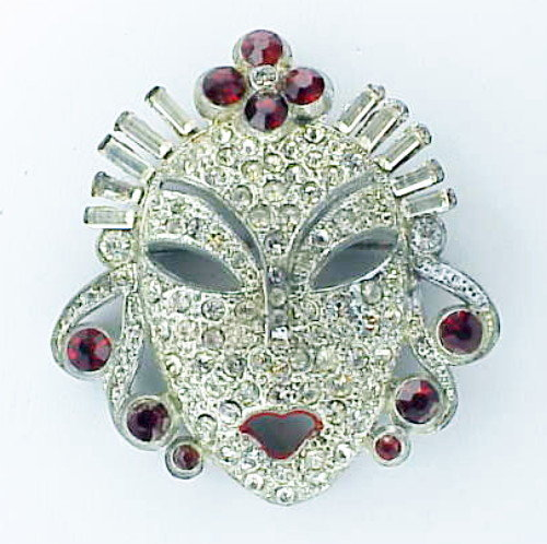 Reinad Asian princes  face brooch