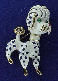"Trifari ""Precious pet series"" Poodle 1967"