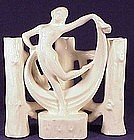 Erphila Fayence Germany scarf dancer posy holder vase