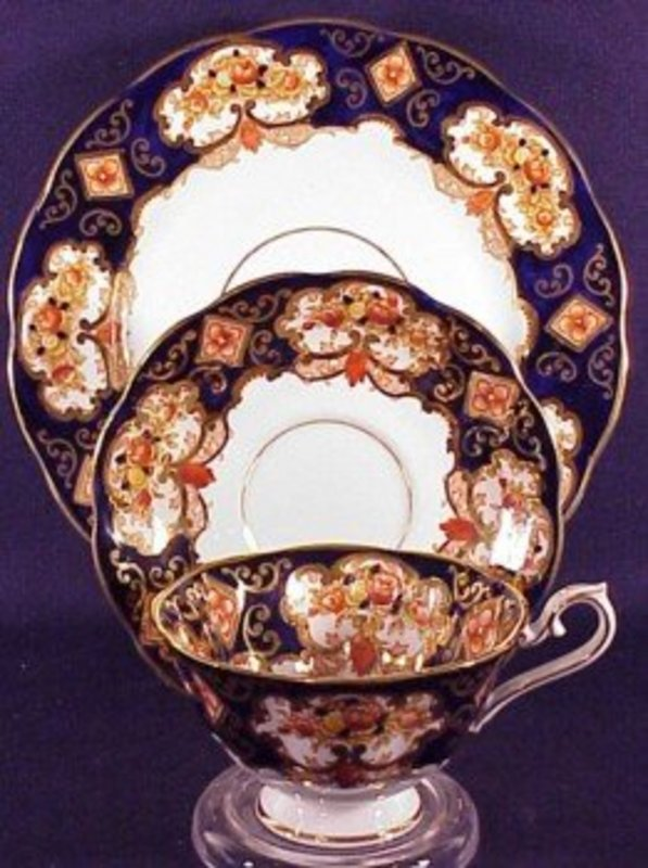 HEIRLOOM cup, saucer, and desert plate by ROYAL ALBERT
