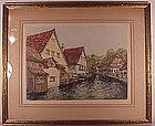 "Alexander Liebmann original etching  16"" x 19 1/2"""