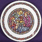 Noel Vitrail Nativity Christmas Plate 1976