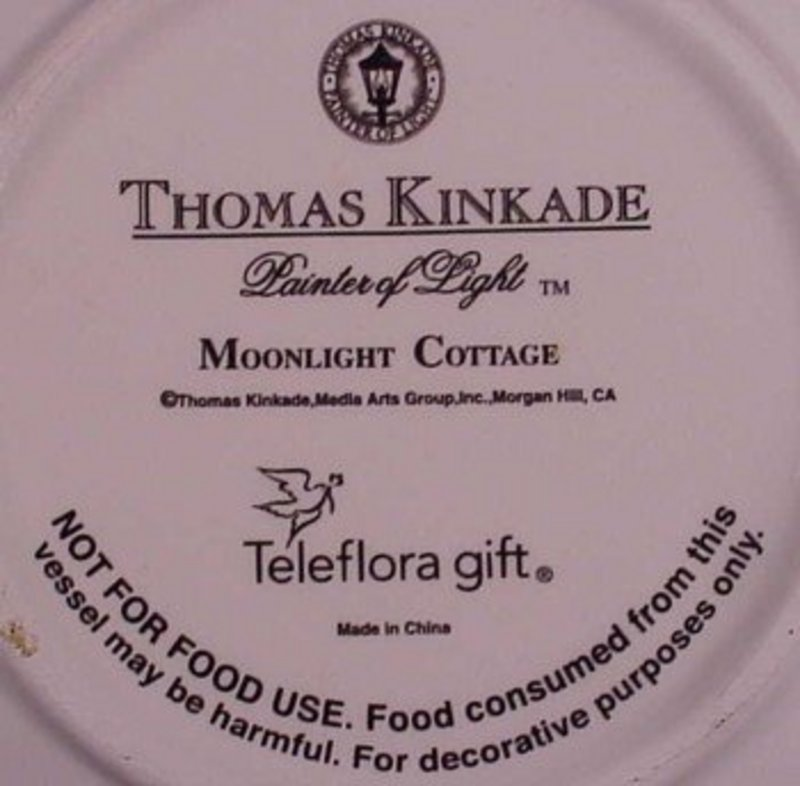 Thomas Kinkade Moonlight Cottage teacup saucer