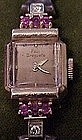 14K Rose Gold Paul Breguette diamond/ ruby watch