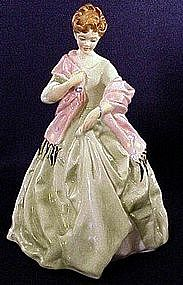 Royal Worcester Freda Doughty Figures First Dance green