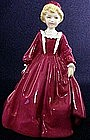 Royal Worcester Freda Doughty Grandmother's dress red