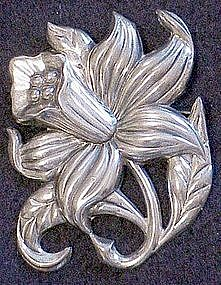 Danecraft sterling floral pin brooch