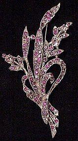 Trifari Spaney floral spray brooch (1941)