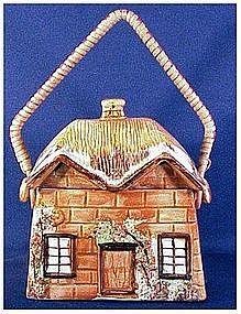 Price cottageware biscuit  jar / barrel thatched
