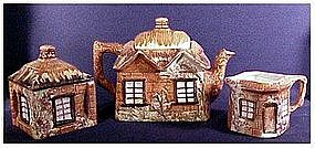 Price cottageware cream and sugar-thatched