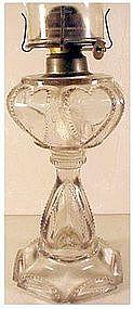 """Queen Heart 9 3/8"""" kerosene lamp ( Dalzell,Gilmore & .)"""
