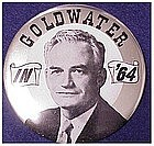 Large Goldwater political button 1964