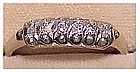14K white gold diamond ring (size 8)