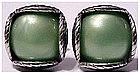 Swank Deco green designer cuff links, cufflinks