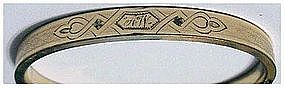 "Gold filled hinged bracelet  (""AW"") 1/4"" wide"