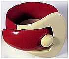 Lucite buckle bracelet  Red & White