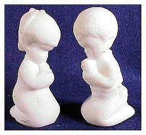 Fenton satin white Praying Boy / Girl # 5100