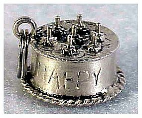 Sterling charm: 3D birthday cake by Danecraft