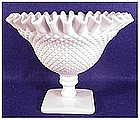 ENGLISH HOBNAIL MILK GLASS (SQUREBSE) compote