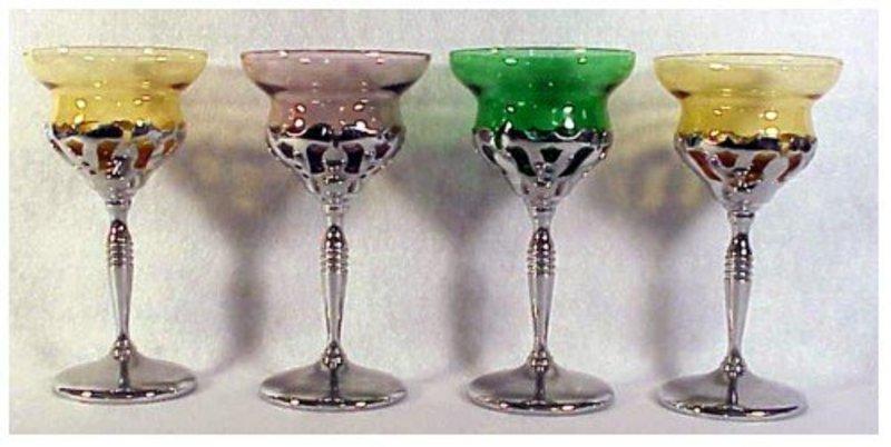 "3 oz. cocktails in ""pierced"" design chrome design"