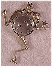 """Sterling vermeil lucite jelly belly """"Leap Frog"""""""