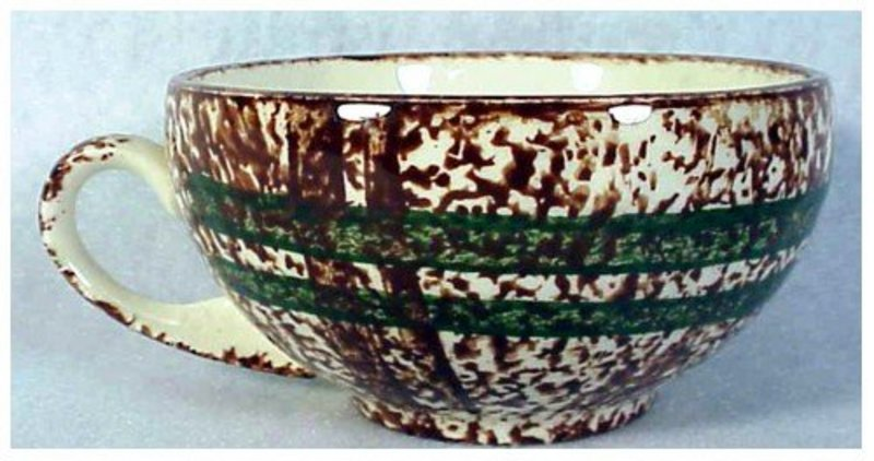 Rustic Plaid Blue Ridge Southern Pottery cup